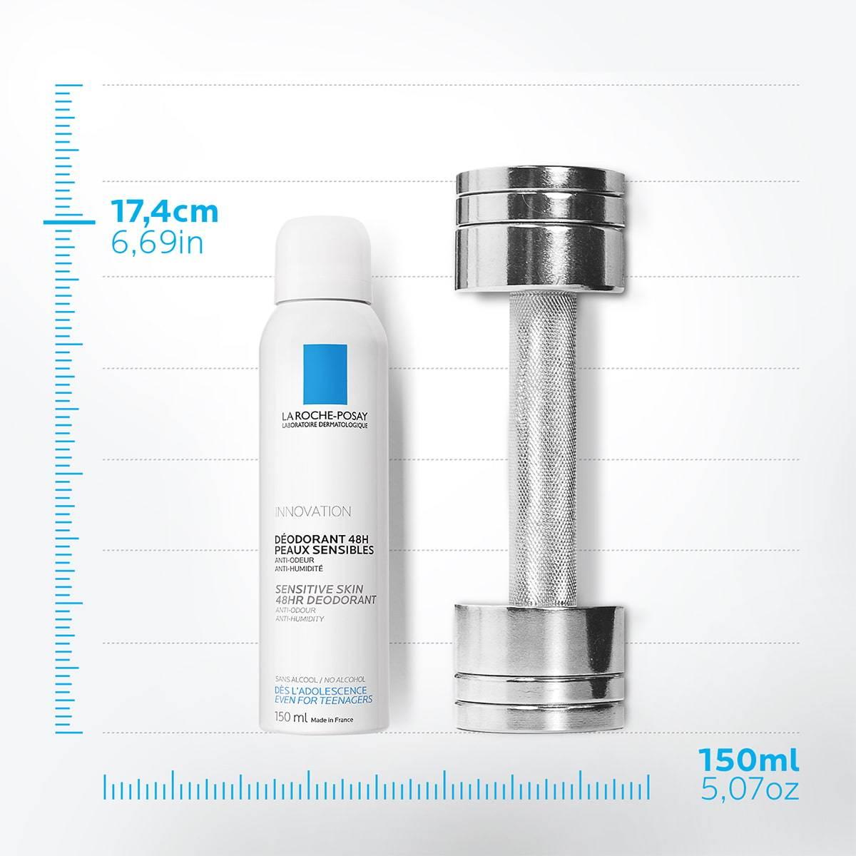 La Roche Posay TermékOldal Dezodor 48 órás Érzékeny Bőr Spray kellemetlen szagok ellen