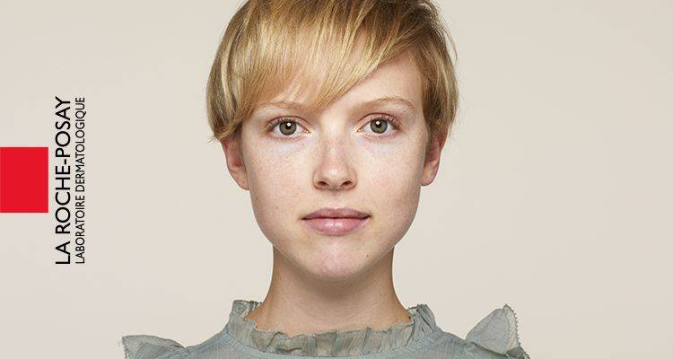 La Roche Posay Érzékeny Toleriane Smink Ivory Audrey Előtte