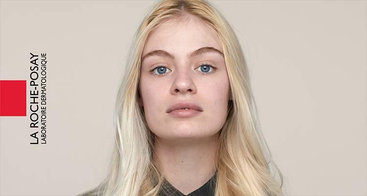 La Roche Posay Érzékeny Toleriane Smink Light Beige Chloe Előtte
